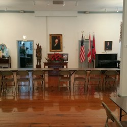 The original courthouse room, where Shelby County history was decided.