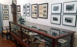 """Shelby County has a long history in the iron business, with railroads playing an important role. The Christian-Davis Room holds many artifacts from the mining days of long ago. The bell from the locomotive """"Alabama"""" is also on display."""