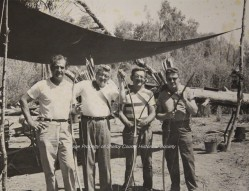 World's Great Archer, Howard Hill, Far Left-Photo From Museum's Digital Archive