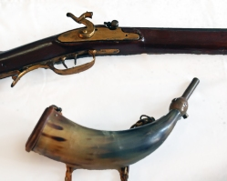 Powder Horn and Long Rifle