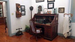 In the Penhale Room is the original roll-top desk from the Shelby Iron Works Commissary.