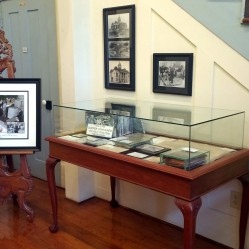 Also located in the Seales Room is a display case containing items that were in the cornerstone of the 1906 courthouse. The contents were removed in 2016 at the 100th anniversary of the new courthouse.