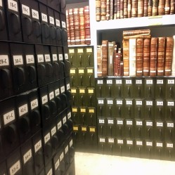 We have three separate cabinets containing a total of 180 drawers. Within those drawers are 22,203 packets containing anywhere from one document up to several hundred documents.