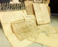 Each document is delicate, and requires careful handling. We have a scanner with protective sleeves that we use to capture document images. The documents pictured above date from 1826!